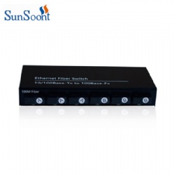 100Mbps 6 SC fiber port and 2 RJ45 port fiber switch