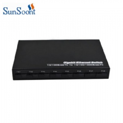 100Mbps 8 SC fiber ports and 1000Mbps 2 RJ45 port fiber switch